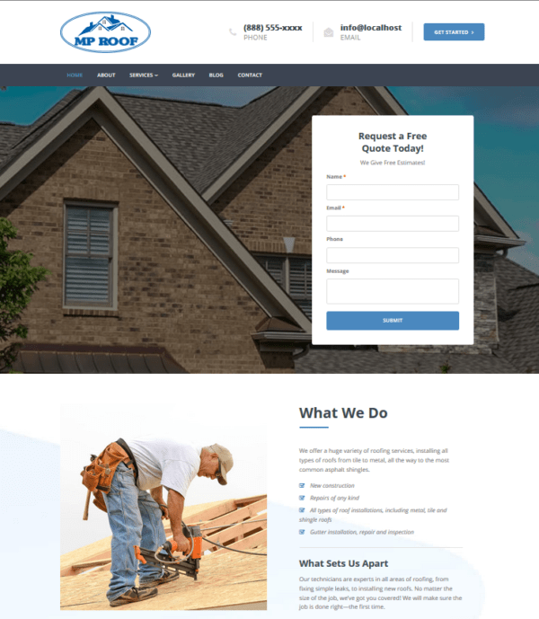 mp roofer theme