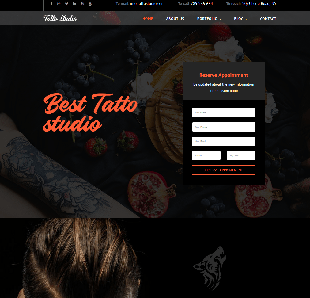 Tattoo Studio Template – HTML post thumbnail image